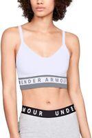 Under Armour 247213 Womens Seamless Longline Sports Bra White/Steel Size X-Small