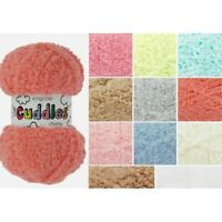King Cole Cuddles Chunky Fluffy Knitting Yarn 50g Ball