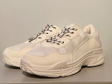 Ex-Display Public Desire Fiyah Womens White Lace Up Chunky Trainers UK 8 EU 41