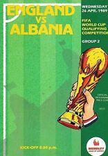 Away Teams A-B Albania Football World Cup Fixture Programmes