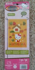 "Sanrio Hello Kitty Welcome Fall Garden Flag 12"" x 18"" From 2013"