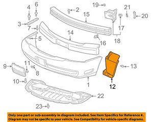 Cadillac GM OEM 00-05 DeVille FRONT BUMPER-Cover Extension Right 25759742