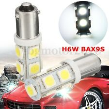 2Pcs H6W BAX9S 5050 9 LED Indicator Side Light Bulb DRL Interior Bulbs 12V White