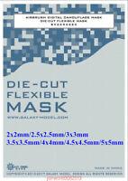 GALAXY Airbrush Digital Camouflage Flexible Mask Sticker Sheet DIY Grid 2mm-5mm