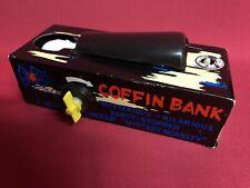 ⚰️Coffin Bank Vintage VTG Rare Moneybox Wind Up Clockwork Toy Retro 70s/80s W207