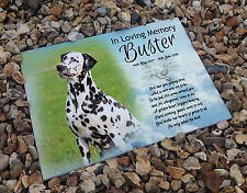 Personalised white cermaic tile headstone memorial plaque Dalmatian dog gift
