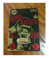 KING KOONG 8000 - 1 Box - 20 Pills - Male Sexual Performance Enhancement