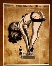 "SAGE ""Pin Up Girl"" hand finished print 1/5 on paper COA Warhol banksy kaws obey"