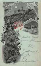 Wartburg Austria Historic Bldg Multiview Scenic Antique Postcard K18897
