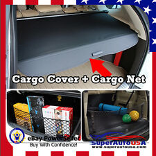 For 17 18 HONDA CRV REAR TRUNK BLACK OE STYLE RETRACTABLE CARGO COVER AND NET US