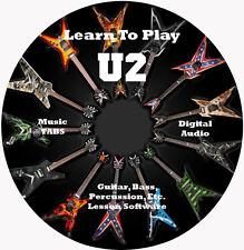 U2 Guitar TABS Lesson CD 198 Songs + Backing Tracks + BONUS