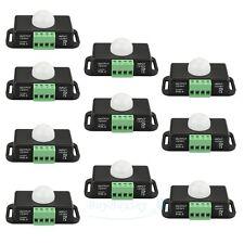 10PCS Automatic DC 12V-24V 8A Infrared PIR Motion Sensor Switch For LED light