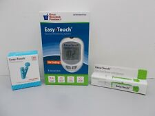 Easy Touch Blood Glucose Meter Monitor & 100 Twist Lancets 30G, Lancing Device