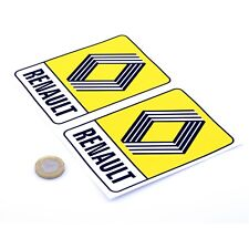 Renault 72 Badge STICKERS Vinyl Decal Car 125mm Racing Vintage Rally 5 Turbo 8