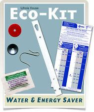 Water Saver Shower & faucet Flow Restrictors, toilet leak tablets