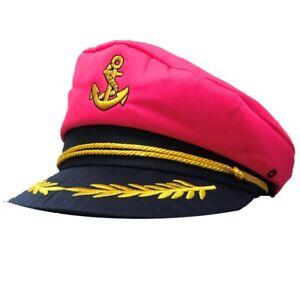 PINK SAILOR CAPTAIN HAT STAG EVENT HEN DO FANCY DRESS COSTUME HIGH SEAS