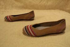 Rothy's Women's Merino Collection Round-Toe Flat HD3 Camel Ribbon Stripe US:5