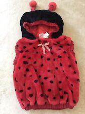 Toddler Ladybug Halloween Costume Hooded Jacket Plush 1 piece Size 12-24 M