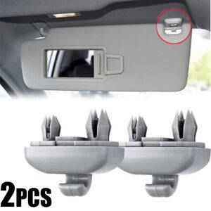 2x Grey Sun Visor Clip Bracket For Audi A3 A4 A5 Q3 Q5 A7 S3 S4 S5 #8U0857562A