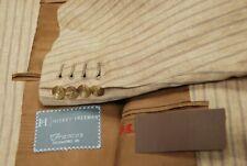 Killer HICKEY FREEMAN Custom linen tan pinstripe sport jacket coat  46L