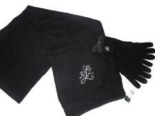 Ralph Lauren women's wool & alpaca Scarf and touch Gloves set Black