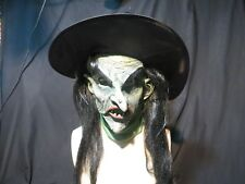 Ultimate Witch With Hat  Horror Mask Zagone Studios.UK Stock,Video Clip.