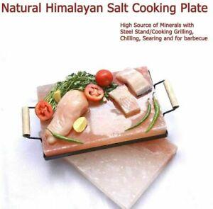 Natural Himalayan salt Cooking Plate bbq/Griling/Roasting Slab & Serving Tray UK