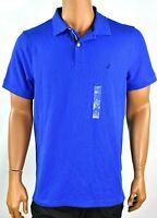 Nautica Mens Blue Polo Shirt New XL Short Sleeve Slim Fit Casual Performance