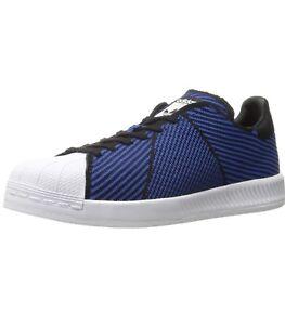adidas, Superstar Bounce PK S82242 Blue White Primeknit Fashion Shoes, Size 10