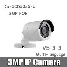 Hikvision DS-2CD2035-I 3MP POE HD IR 50M Network Security Network IP Camera 4mm
