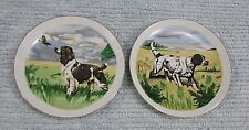 "Two Hunting Bird Dog 6"" Decorative Wall Plates Brittany Pointer Setter Free S/H"