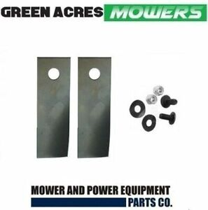BLADE KIT FOR ROVER MOWERS 2 BLADES AND BOLTS A01118K , A00672K HARDENED BLADE