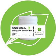 Schüßler - Salz 3 Ferrum phos.  D12 glutenfrei 100g Pulver PZN 08000123