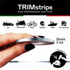 Trim Stripes Strisce Adesive per Auto, Cromo, 3 mm x 10 Mt