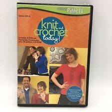 Knit and Crochet Today! Series 200-A 3 DVD Set 13 Episodes 28 Pattern CD ROM