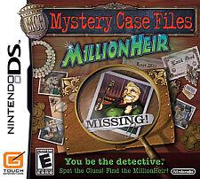 Mystery Case Files: MillionHeir Nintendo DS