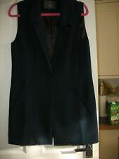 Ladies, Long Navy Blue waist Coat size 10