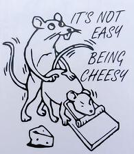 """""""il suo non facile essere di formaggio"""" Adesivi / Auto / Van / paraurti / Finestra / Decalcomania Notebook 5252"""
