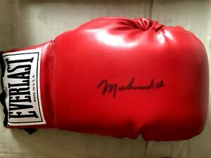 Muhammad Ali autographed signed Everlast boxing glove w/ custom display case JSA