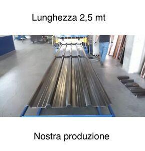 LAMIERA GRECATA COPERTURA 1010 MM Lunghezza 2500 MM Colori Tdm/rs/Bg