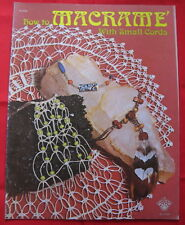 Vintage 1975 Macrame With Small Cords Pattern Booklet Craft Course Publishers
