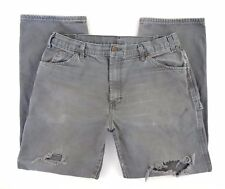 Dickies Carpenter Jeans Utility Size 36 x 32 Distressed Destroyed Sage Green GUC