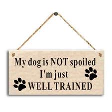 Kennel Sign Wooden Dog Puppy Wall Hanger Groomer Decor Garden Plaques Supplies