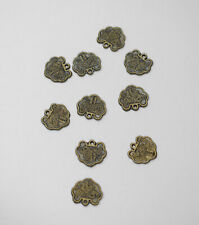 Beads Chinese Brass Symbol Charms 15mm