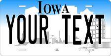 Iowa 1996 Plates Tag Personalized Auto Car Custom VEHICLE OR MOPED