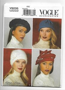 CHOICE OF NEW VOGUE OR BUTTERICK SEWING PATTERNS HATS /& CHILD/'S HATS DESIGNER