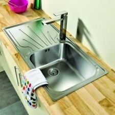 Extra Large Single Super Deep Bowl 1.0 Stainless steel Kitchen Sinks SATIN