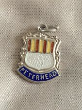 PETERHEAD Silver Travel Shield Enamel Charm
