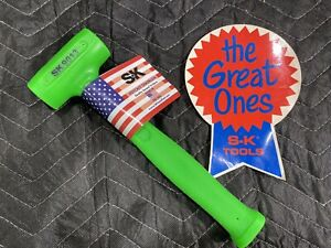 """SK TOOLS 9013 GREEN DEAD BLOW HAMMER - SOFT FACE 13oz  11"""" - USA - BRAND NEW!"""