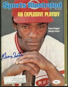 Reds George Foster Authentic Signed Sports Illustrated 1976 JSA #F77204